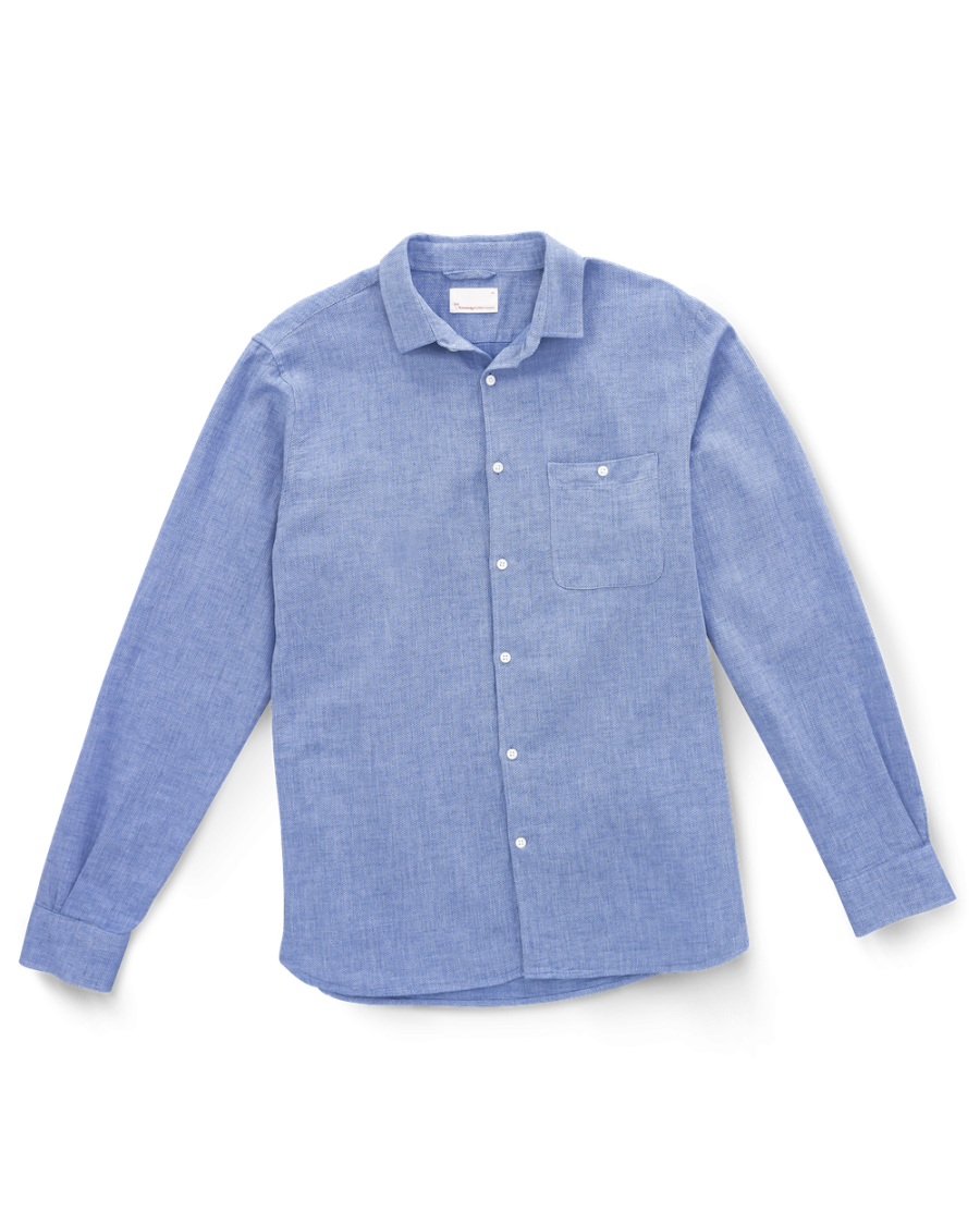 Chemise Knowledge Cotton Apparel Bleu