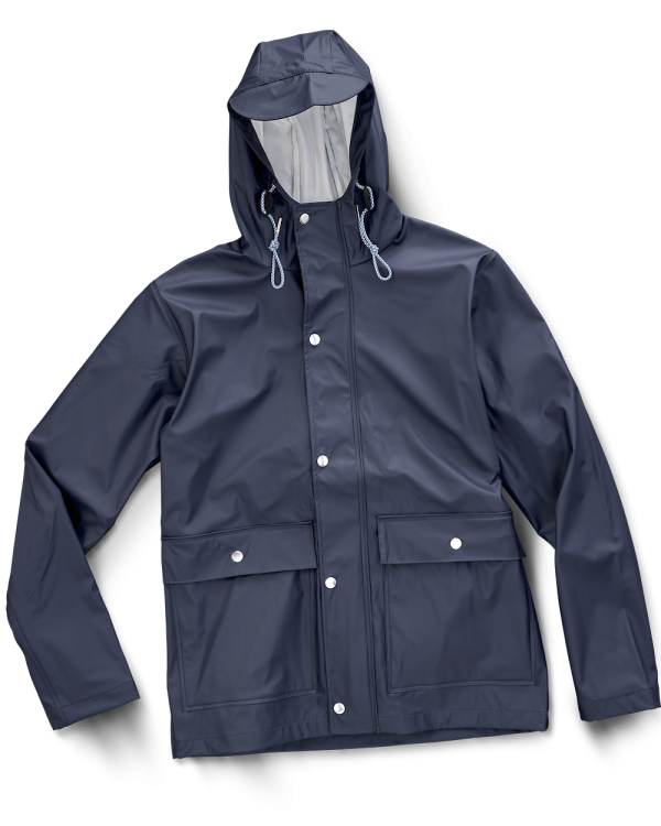 Rain Coat Bleu Marine Knowledge Cotton Apparel